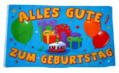 fahne / flagge alle<strong>s</strong> gute zum geburtstag