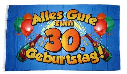 Flagge Fahne Alles Gute Zum 30 Geburtstag Blau Hissflagge 90 X
